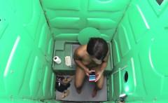 Porta Gloryhole Ebony loves cum protein