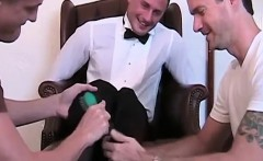 Newly married Davis gets tied down to the chair and tickled