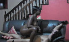 Perfect African Babe Receives A Big Cock Inside Her Pussy