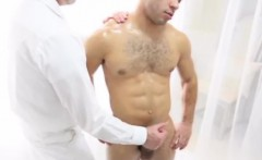 Young straight guy being jerked by older gay man