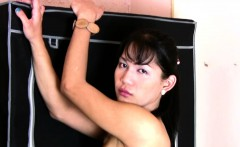 Exotic trans with big hanging balls strokes her ladystick