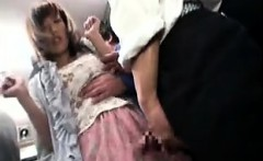 Asian gal gets groped by two dudes while shopping and grabs