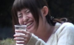 Uniform asian watched pee