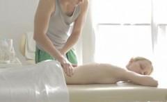 Ebony catching cum Mirta gets a sensual massage