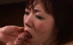 Oriental bondage fetishist relishes every thrust of cock in