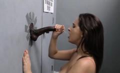ashley adams sucks off black cock   gloryhole