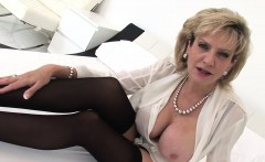 Unfaithful english milf gill ellis shows off her massive boo