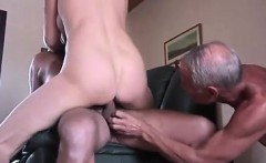 Cuckold guy made to watch.