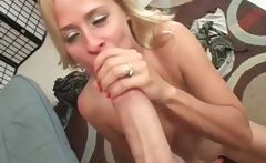 Mommy blowing massive pecker