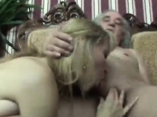 Slutty Blond Sucks Off And Fucks An Old Handicapped Man