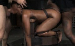 Helpless Ebony Teen Slave Got Destroyed!