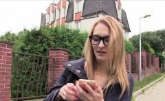 Blonde amateur bangs agent in public