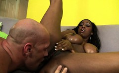 big booty chocolate beauty has a white guy banging her pink honey hole