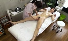 Pretty Asian girl with a spicy ass is made to cum hard by a