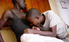 Black Twinks Marvin and Chris Bareback