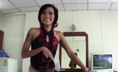 Petite Thai girl takes a pounding