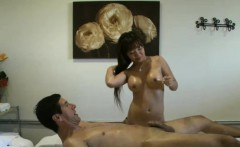Asian Massage Babe Jerking Client Cock