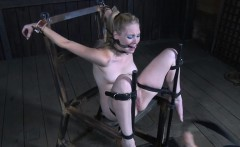Bound bdsm sub dominated by male with whip
