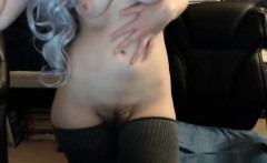 hot babe with her big ass and hairy pussy