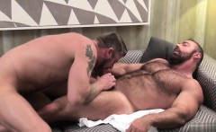 Tattoo gays oral sex and facial cum