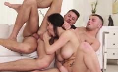 Bisexual hunk fucking in trio before cumming