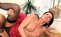 Staggered Sex Kitten In Undies Is Geeting Peed On And Rode