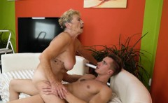 bigtit grandmother satisfied by young cock
