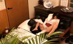 Seductive Japanese babe spreads her legs and gets her pussy