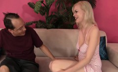 Thin blonde gets fucked and facial