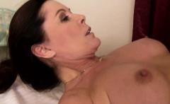 Trans lesbian masseuse creams on mature pussy
