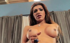 Busty Latina Tgirl Fingers Ass And Tugs Cock