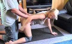 German fledgling blondie Student plumbed after Yoga
