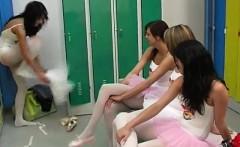 Lesbian hair washing xxx Hot ballet chick orgy