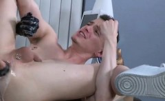 Gay boy using huge dildo and fisting black naked thugs Brian