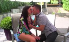 hot Babe Athina Love eating cum