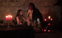 a scene directly from dungeons and demons! larissa and her