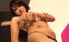 Mito Ayase loves to play with herself. This cute thick