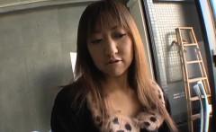 Busty Mayumi amazing sex scenes in raw POV