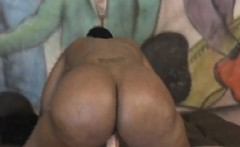 sloppy ass black ghetto ho rough riding on white dick