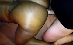 Interracial White BBW and Huge Cock