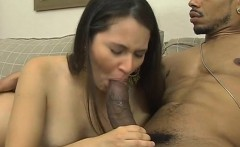 white whore is cheerful to get fucked by that big black cock