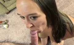 Nicci Taylor is going down on a stiff cock