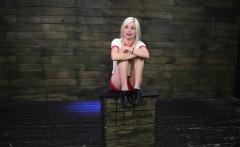Ebony bondage squirt Helpless teen Piper Perri was on her wa