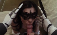 French Teen Amateur Fuck And Cuckold Daddy Swalloween Fun