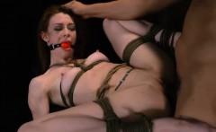 Tied Babe Alexa Nova Gets Roughly Banged By Big Rod
