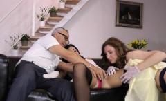 Stockings Brit Cumshot