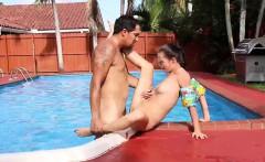 girl in handcuffs big tits swimming in semen