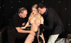 stacey saran in a gown has a cock in her pussy and...