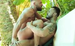 Latin gay anal sex and facial
