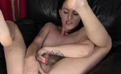 Femboi Talks Dirty and Licks Her Own Cum!